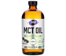 NOW FOODS MCT Oil Pure Liquid - 473 ml. Vanilla Hazelnut