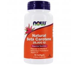 NOW FOODS Beta Carotene 25000iu - 90softgels