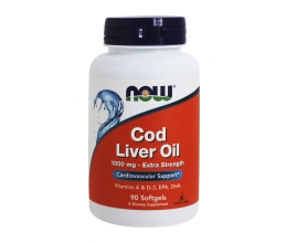 NOW FOODS Cod Liver Oil 1000mg - 90softgels