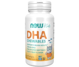 NOW FOODS DHA Kid´s Chewable 100mg - 60softgels