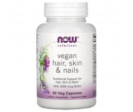 NOW FOODS VEGAN Hair, Skin & Nails 90vcaps