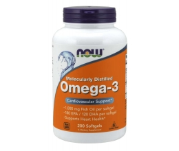 NOW FOODS Omega 3 Fish Oil - 200 softgels