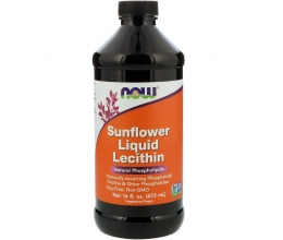 NOW FOODS Lecithin Liquid, Sunflower 473ml (Letsitiin)