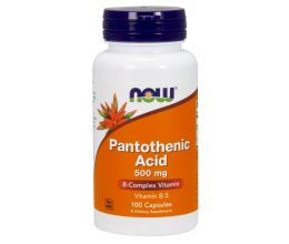 NOW FOODS Vitamin B-5, Pantothenic Acid, 500mg x 100 Caps