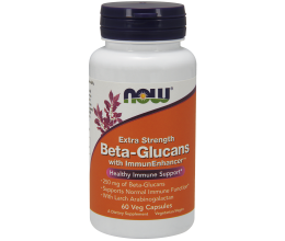 NOW FOODS Beta-Glucans with ImmunEnhancer 250mg - 60 vcaps