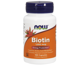 NOW FOODS Biotin, 1000mcg - 100Caps (biotiin)