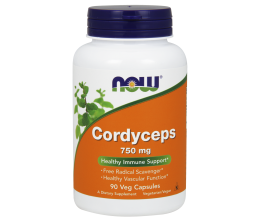 NOW FOODS Cordyceps 750mg - 90 vcaps
