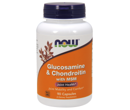 NOW FOODS Glucosamine & Chondroitin with MSM - 90 caps