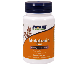 NOW FOODS Melatonin Chewable - 90 lozenges