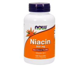 NOW FOODS Niacin 500mg (vitamin b3) - 100 caps (niatsiin)