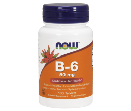 NOW FOODS Vitamin B6 50mg 100tabs