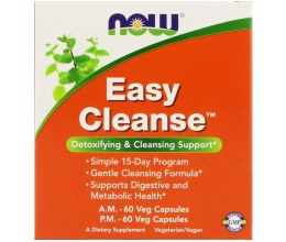 NOW FOODS Easy Cleanse 60VCaps each (2 Bottles)