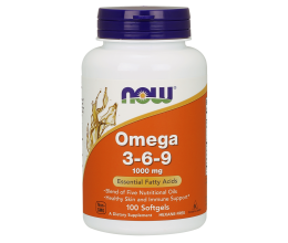 NOW FOODS Omega 3-6-9, 1000mg - 100 softgel
