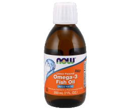 NOW FOODS Omega 3 Fish Oil Liquid 200ml Lemon