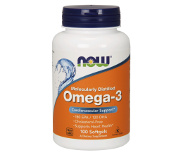 NOW FOODS Omega 3 Fish Oil - 100 softgels