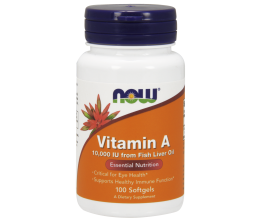 NOW FOODS Vitamin A, 10000 IU x 100sgels