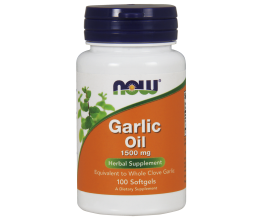 NOW FOODS Garlic Oil, 1500mg - 100 softgels