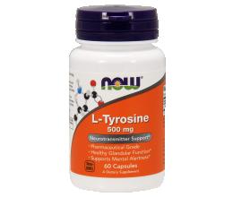 NOW FOODS L-Tyrosine, 500mg - 60 caps