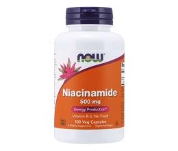 NOW FOODS Niacinamide(B3/No Flush) 500mg - 100 caps (Niatsiinamiid)