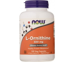 NOW FOODS L-Ornithine 500mg - 120 vcaps