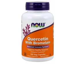 NOW FOODS Quercetin with Bromelain - 120 vcaps