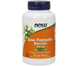 NOW FOODS Saw Palmetto Berries 550mg - 100 vcaps