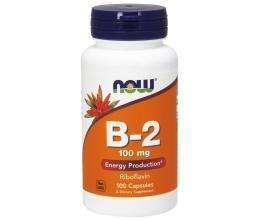 NOW FOODS Vitamin B2 Riboflavin 100mg x 100Caps (riboflaviin)