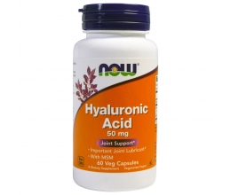 NOW FOODS Hyaluronic Acid with MSM 60VCaps (Hüaluroonhape+msm)
