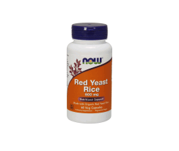 NOW FOODS Red Yeast Rice 600mg 60VCaps- BB 01/2018