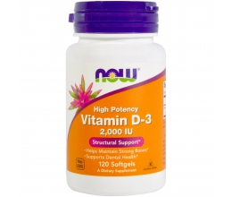 NOW FOODS Vitamin D3 2000iu 120 Softgels