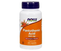 NOW FOODS Vitamin B-5, Pantothenic Acid, 500mg x 100 Caps