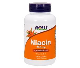 NOW FOODS Niacin 500mg (vitamin b3) - 100 caps (niatsiin)