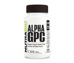 NUTRABIO Alpha GPC 60 Caps (L-Alpha glycerylphosphorylcholine)