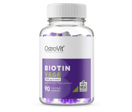 OstroVit Biotin VEGE 90 vcaps (Biotiin / vitamiin B7)