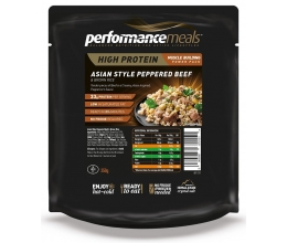 Performance Meals -  Asian Style Peppered Beef & Brown Rice