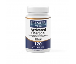 PREMIERVITS Activated Charcoal 300mg - 120veg caps