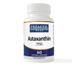 PREMIERVITS Astaxanthin 4mg x 60 Softgel Capsule Best Before 08/2019