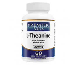 PREMIERVITS L-Theanine 200mg x 60 VCaps