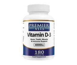 PREMIERVITS Vitamin D3 4000iu - 180 Tabs