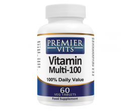 PREMIERVITS Vitamins Multi 100 - 60VegTabs Best Before 07/2019