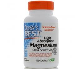 DR´S BEST Magnesium High Absorption 100% Chelated 120tabs (kelaaditud magneesium)
