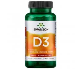 SWANSON Vitamin D3 - 2000iu 250 Capsules