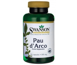 SWANSON Pau d´Arco 500mg - 100 caps (sipelgapuu koor)