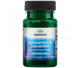 SWANSON Astaxanthin & Zeaxanthin - 60 softgels