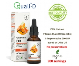 AURA HERBALS Vitamin D3 2000iu (900servings) 30ml