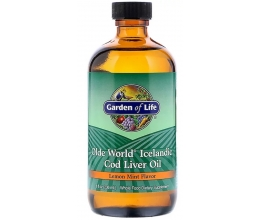 GARDEN OF LIFE Icelandic Cod Liver Oil 236ml Lemon Mint