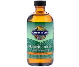 GARDEN OF LIFE Icelandic Cod Liver Oil 236ml Lemon Mint BB 07/2020