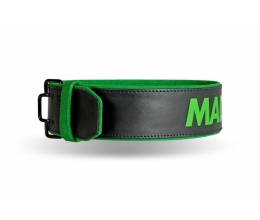 MADMAX Leather Quick Release Belt Black/Green (MFB-302)